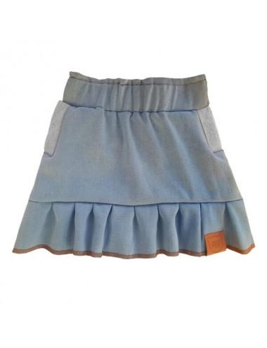 Spódniczka jenasowa z kieszonkami