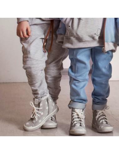Szare joggery z wzmocnieniami na kolanach