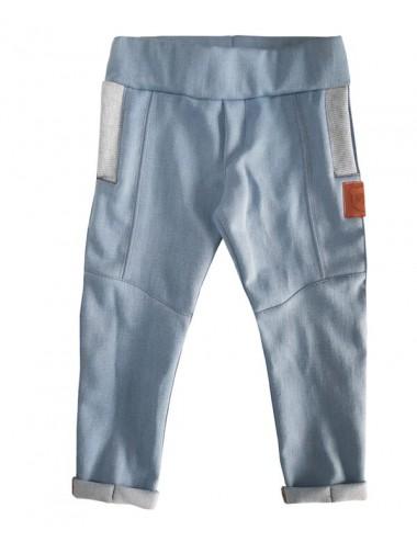 Niebieskie spodnie z miękkiego jeansu dla chlopca