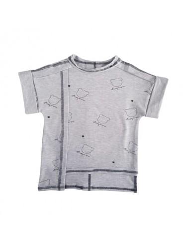 Koszulka szara T-Shirt z autografem