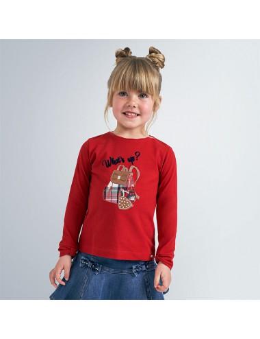 Koszulka  z kokardką dla dziewczynki
