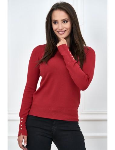 Sweter basic z długim rękawkiem