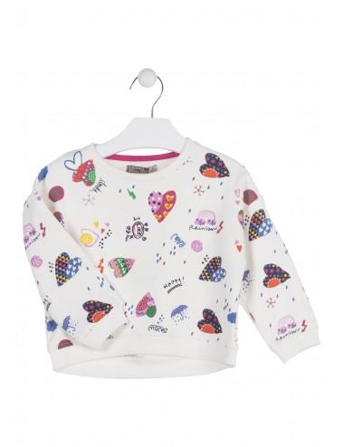 Sweter z długim rękawem dla dziewczynki