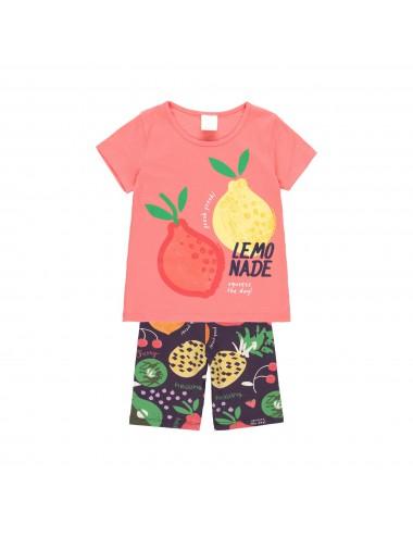 Komplet letni FRUITS dla dziewczynki