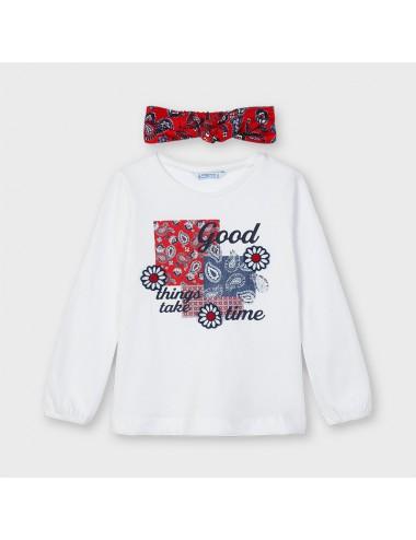 Bluzka dla dziewczynki z opaską