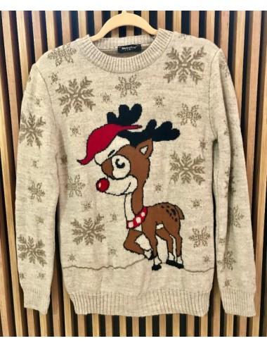 Sweter damski z domieszką wełny
