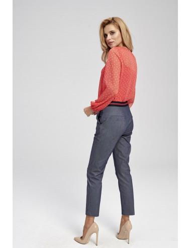 Spodnie  damskie z wysokim stanem RR
