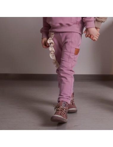 Spodnie dla dziewczynki z koronką